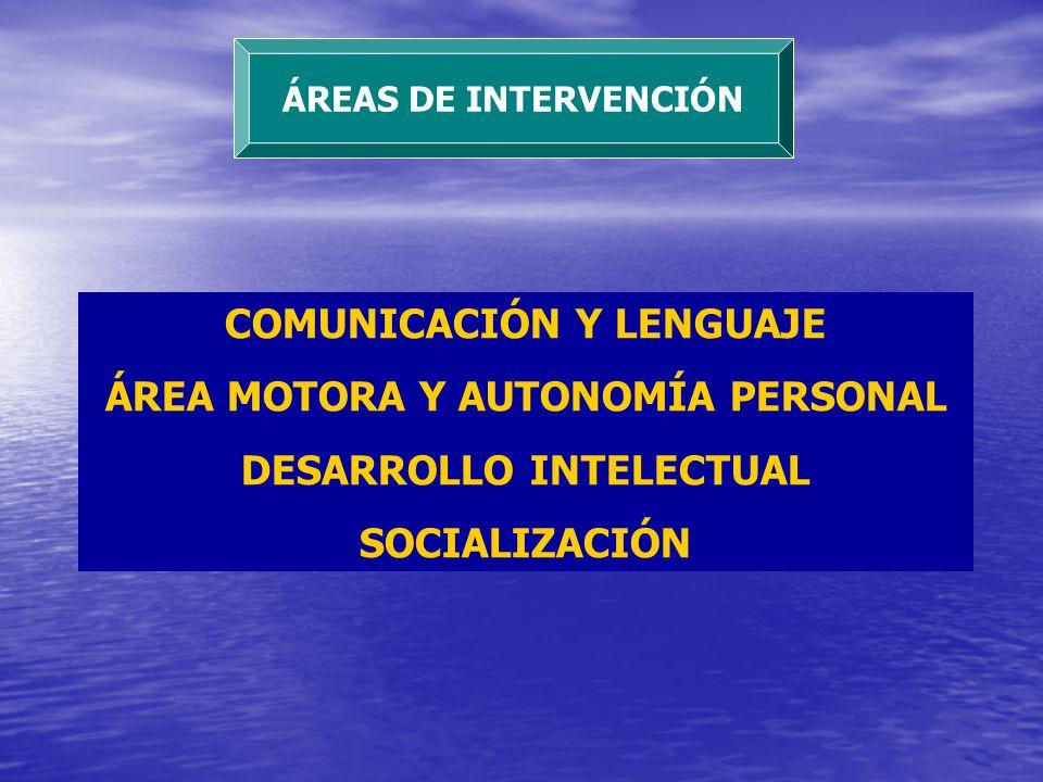 COMUNICACIÓN Y LENGUAJE ÁREA MOTORA Y AUTONOMÍA PERSONAL