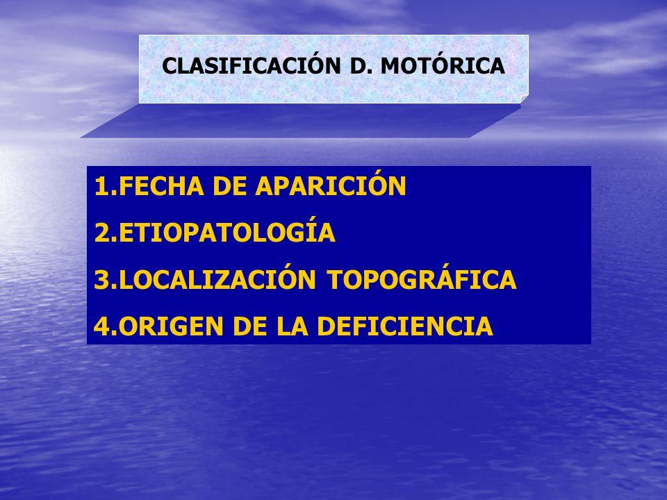 CLASIFICACIÓN D. MOTÓRICA