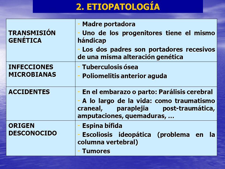 2. ETIOPATOLOGÍA TRANSMISIÓN GENÉTICA Madre portadora