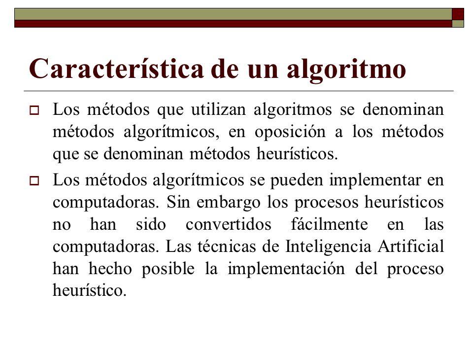 Característica de un algoritmo