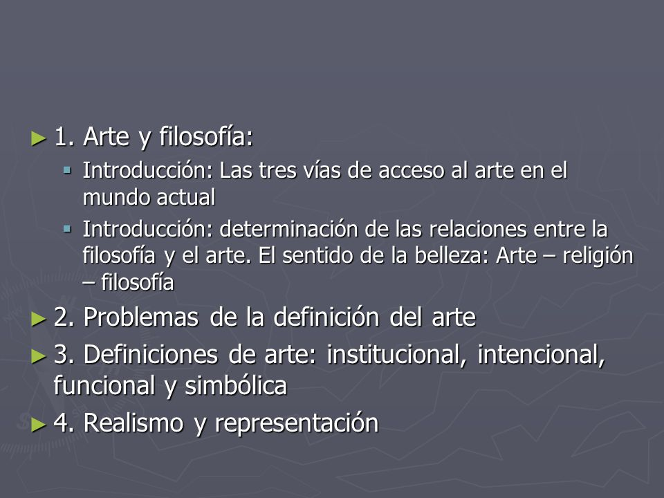 2. Problemas de la definición del arte