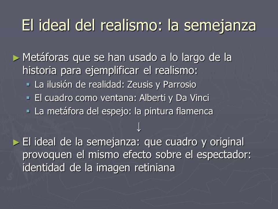 El ideal del realismo: la semejanza
