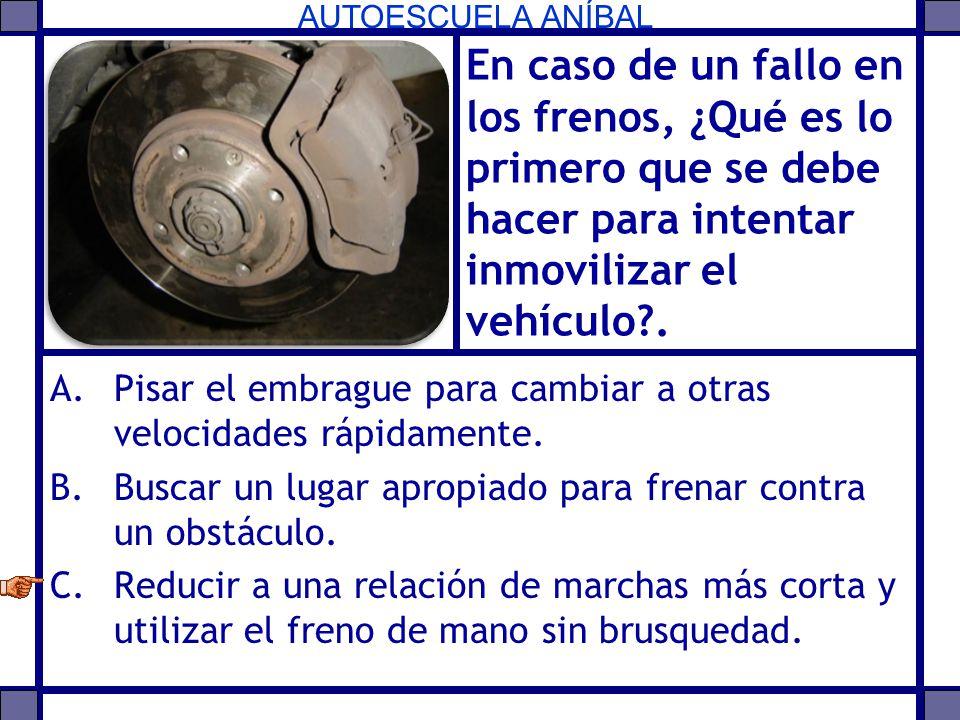 En caso de un fallo en los frenos, ¿Qué es lo primero que se debe hacer para intentar inmovilizar el vehículo .
