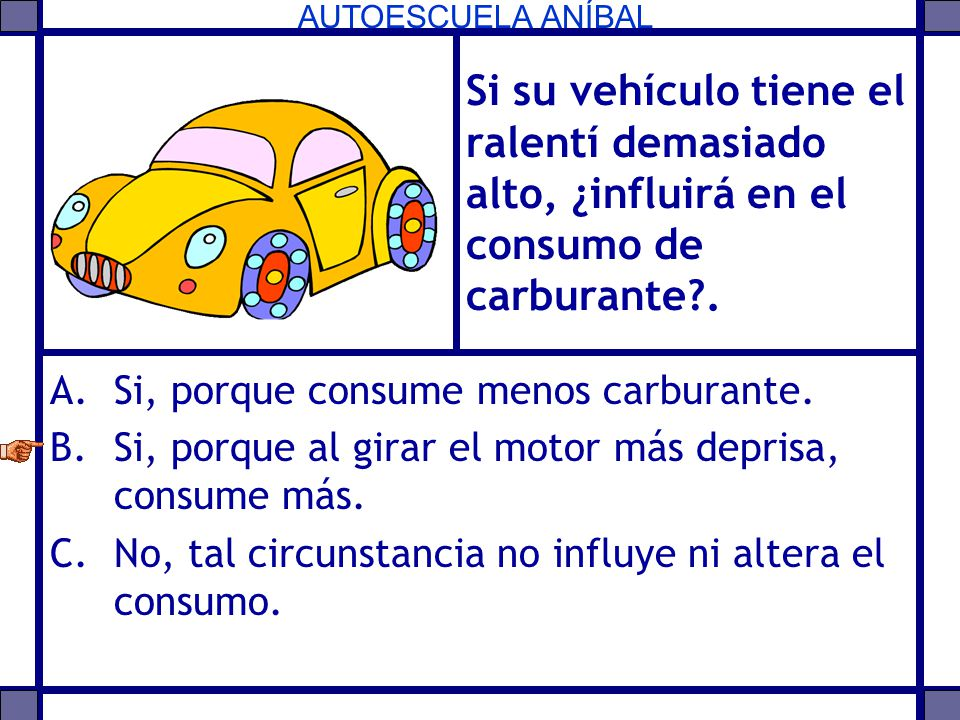 Si su vehículo tiene el ralentí demasiado alto, ¿influirá en el consumo de carburante .