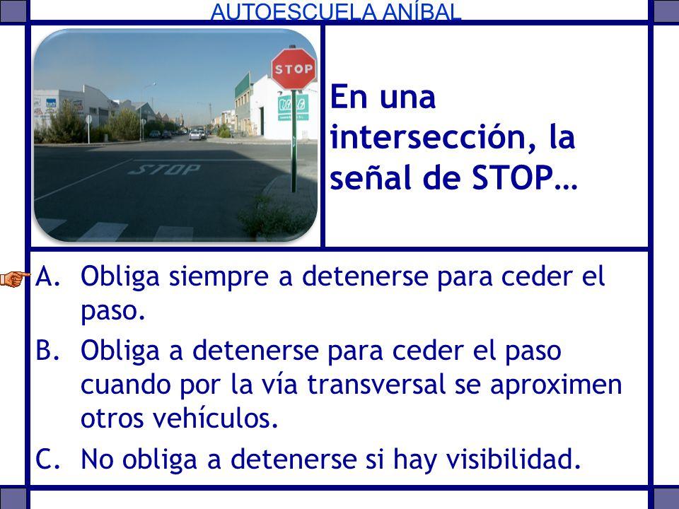 En una intersección, la señal de STOP…