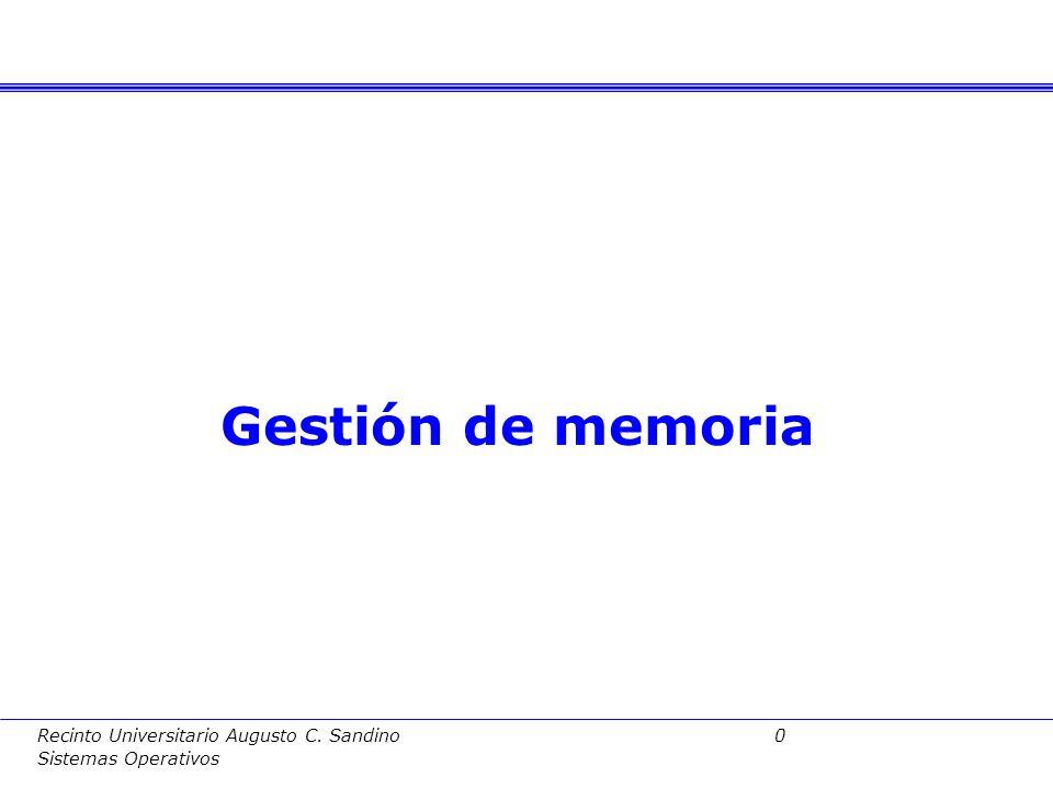 Gestión de memoria Fundamentos de Computadores II