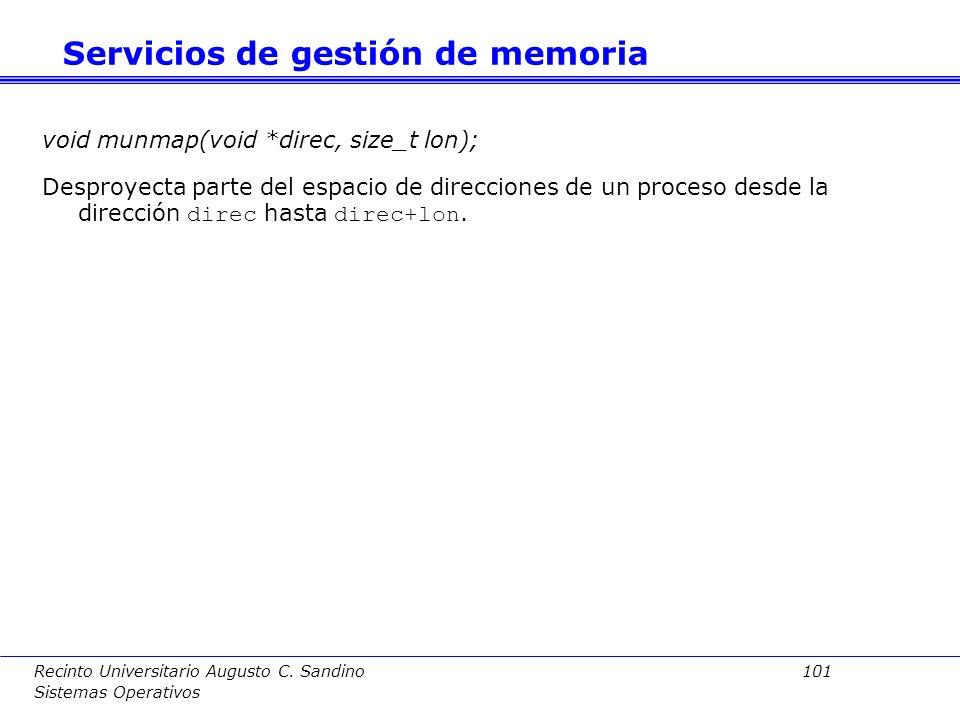 Servicios de gestión de memoria