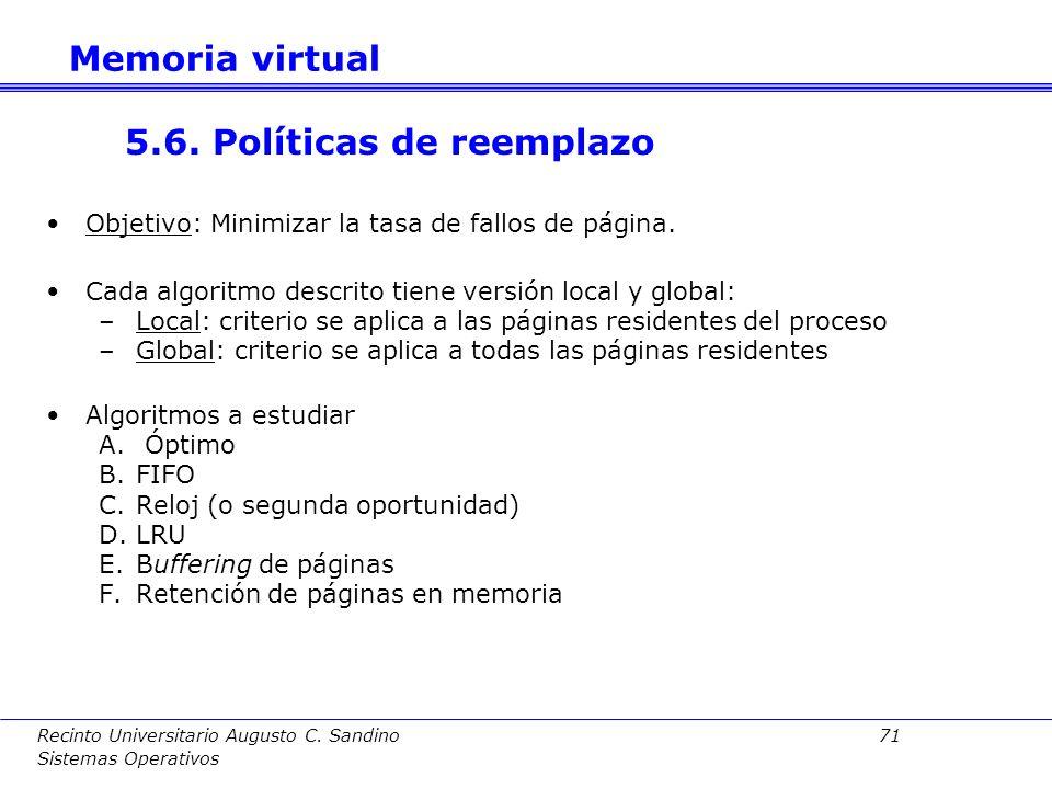 5.6. Políticas de reemplazo