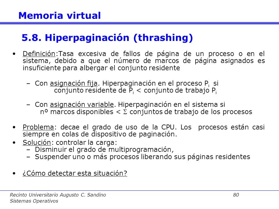 5.8. Hiperpaginación (thrashing)