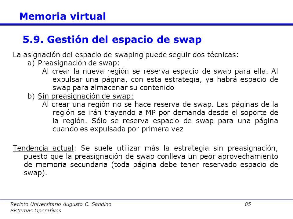 5.9. Gestión del espacio de swap