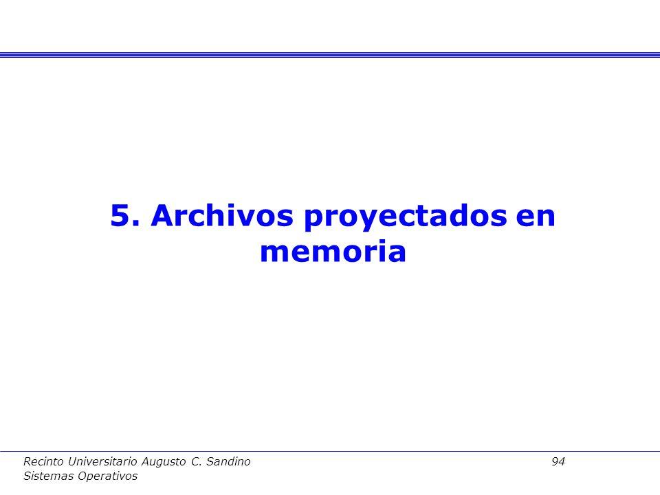 5. Archivos proyectados en memoria