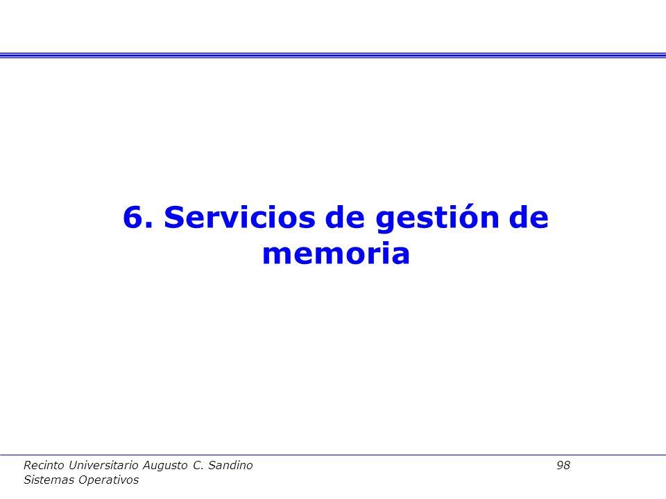 6. Servicios de gestión de memoria