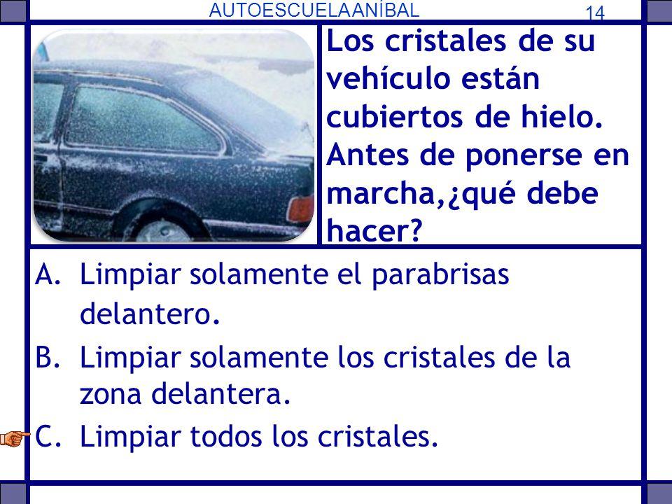 Los cristales de su vehículo están cubiertos de hielo
