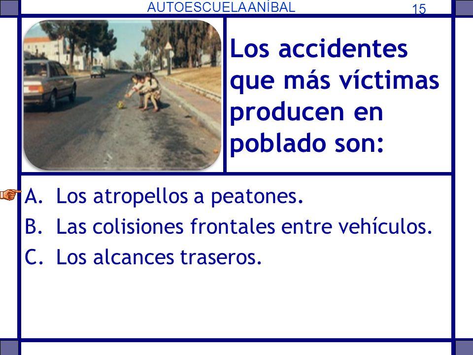 Los accidentes que más víctimas producen en poblado son: