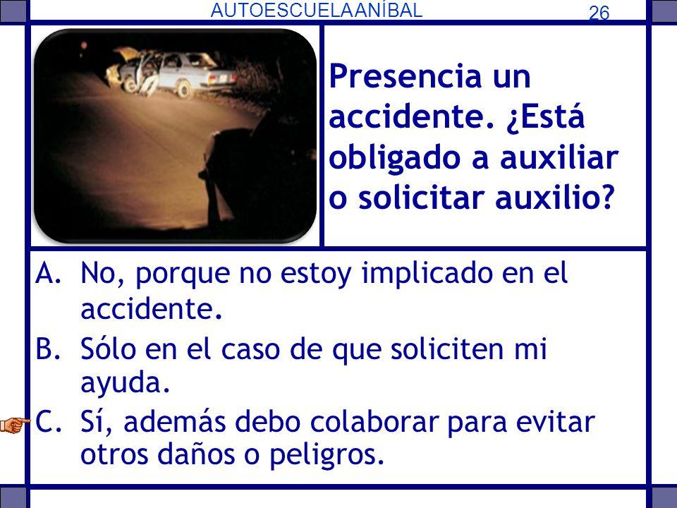 Presencia un accidente. ¿Está obligado a auxiliar o solicitar auxilio
