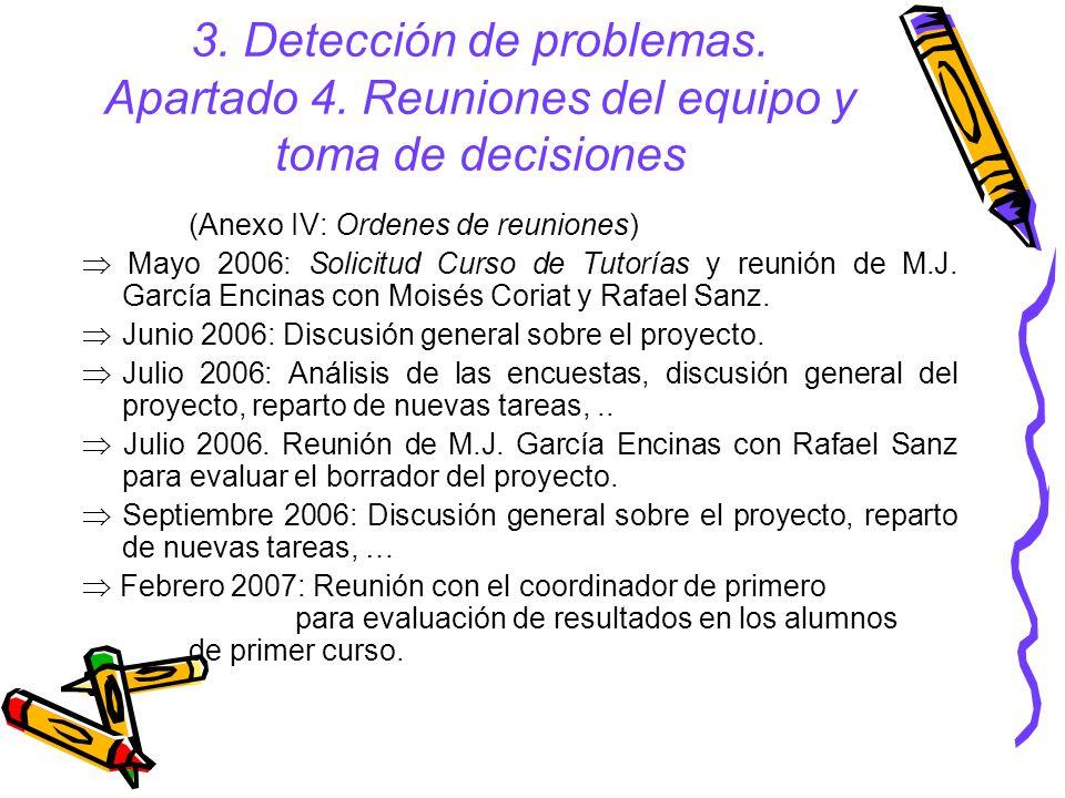 3. Detección de problemas. Apartado 4