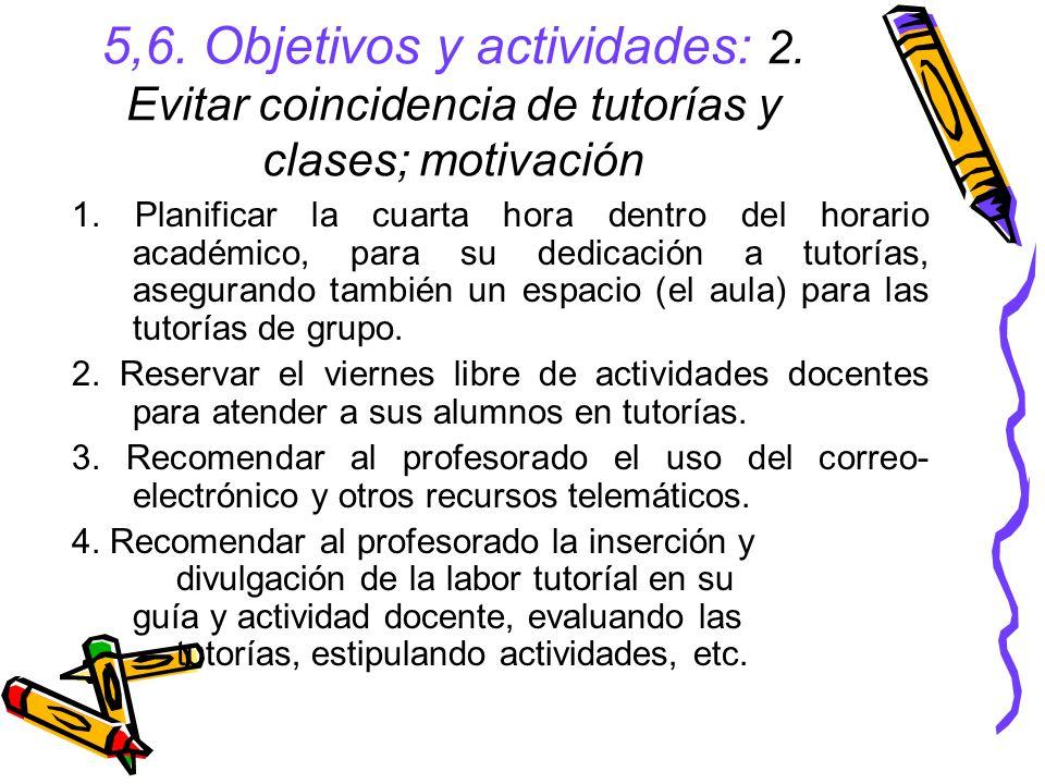 5,6. Objetivos y actividades: 2