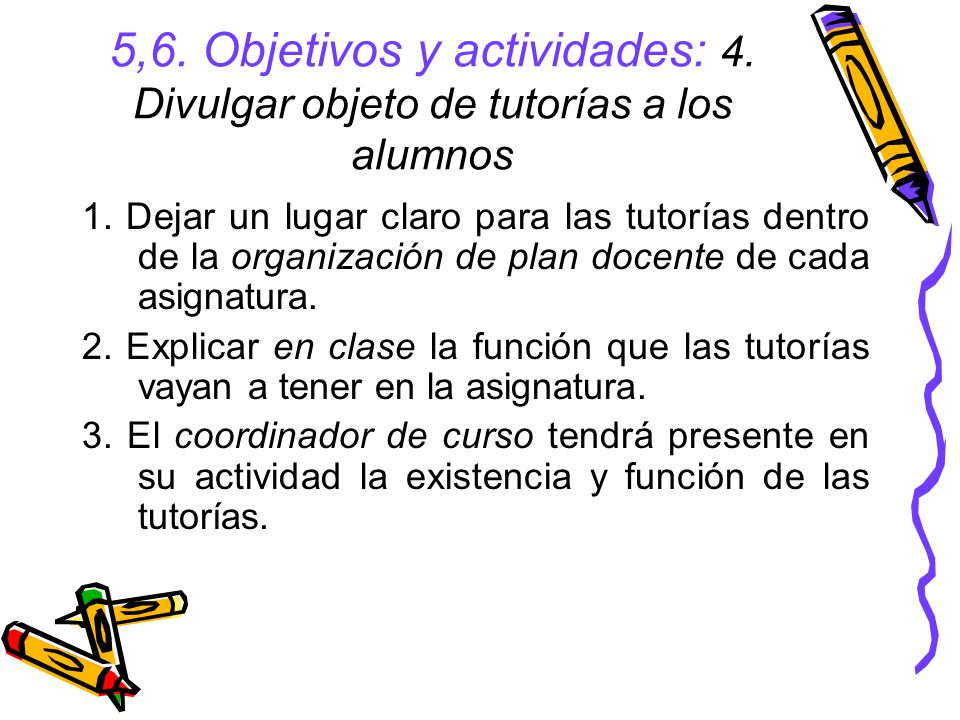 5,6. Objetivos y actividades: 4