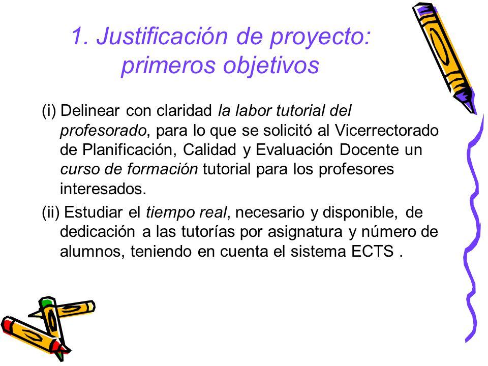 1. Justificación de proyecto: primeros objetivos