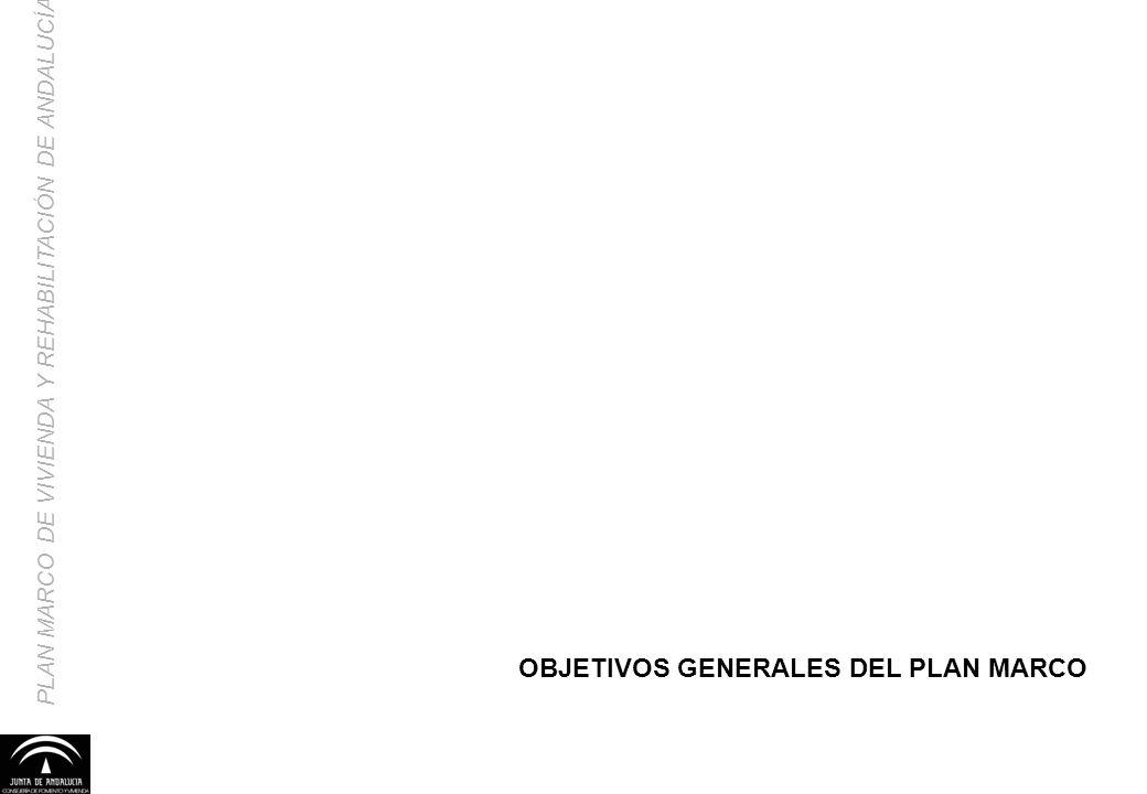 OBJETIVOS GENERALES DEL PLAN MARCO
