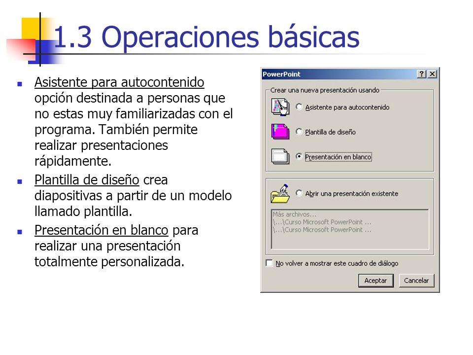 1.3 Operaciones básicas