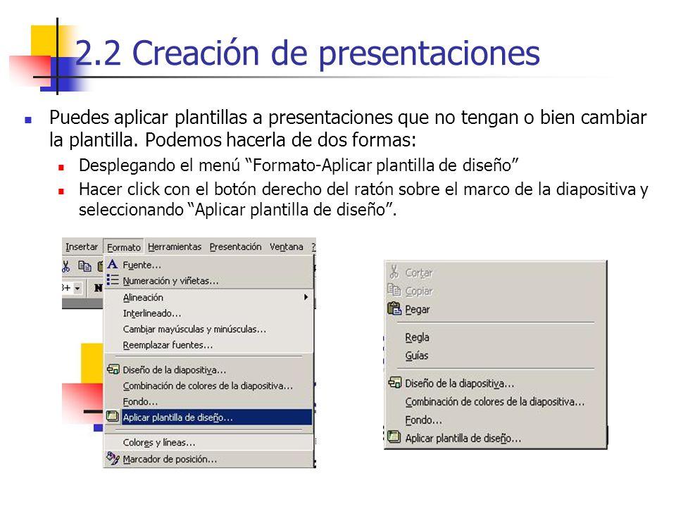 2.2 Creación de presentaciones