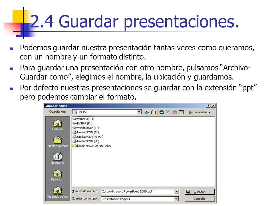 2.4 Guardar presentaciones.
