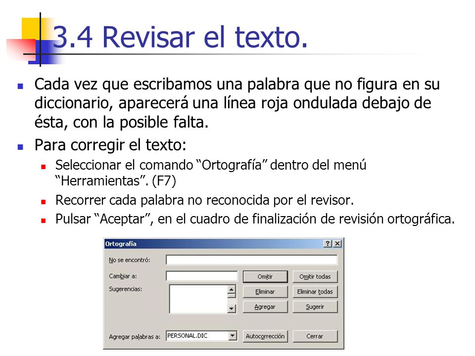 3.4 Revisar el texto.