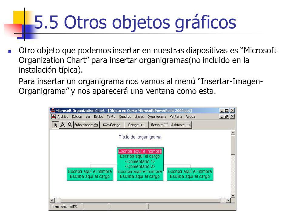 5.5 Otros objetos gráficos