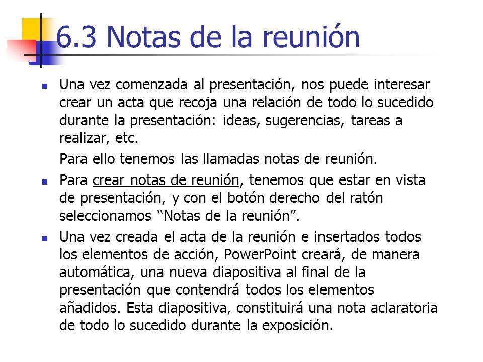6.3 Notas de la reunión