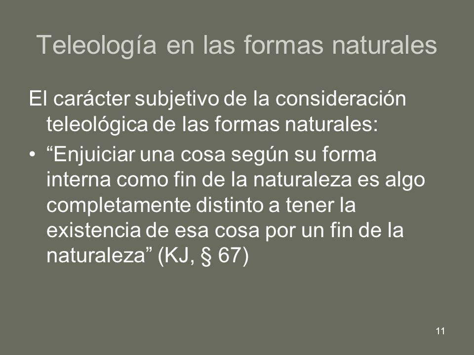 Teleología en las formas naturales