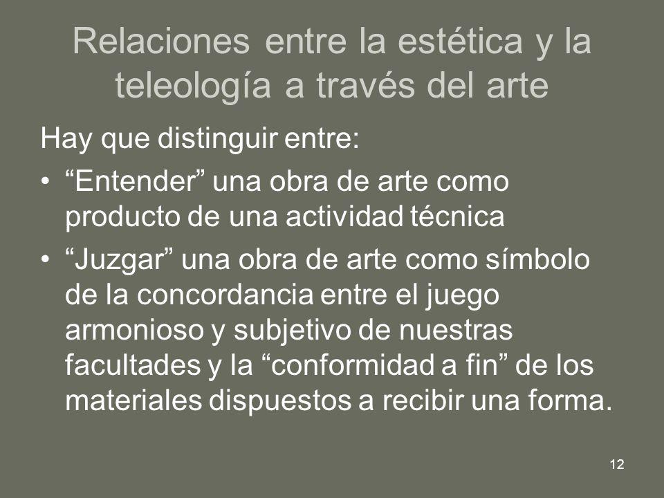 Relaciones entre la estética y la teleología a través del arte