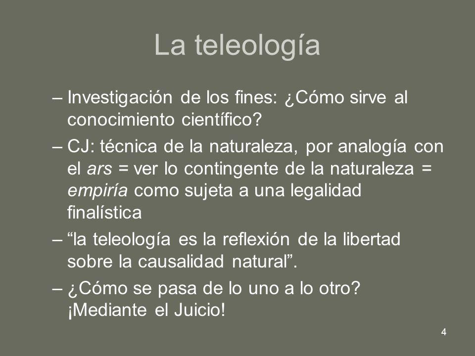 La teleología Investigación de los fines: ¿Cómo sirve al conocimiento científico