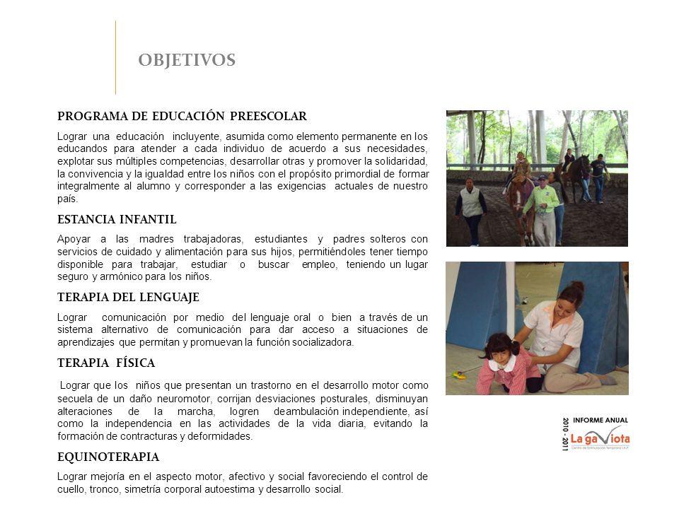 OBJETIVOS PROGRAMA DE EDUCACIÓN PREESCOLAR ESTANCIA INFANTIL