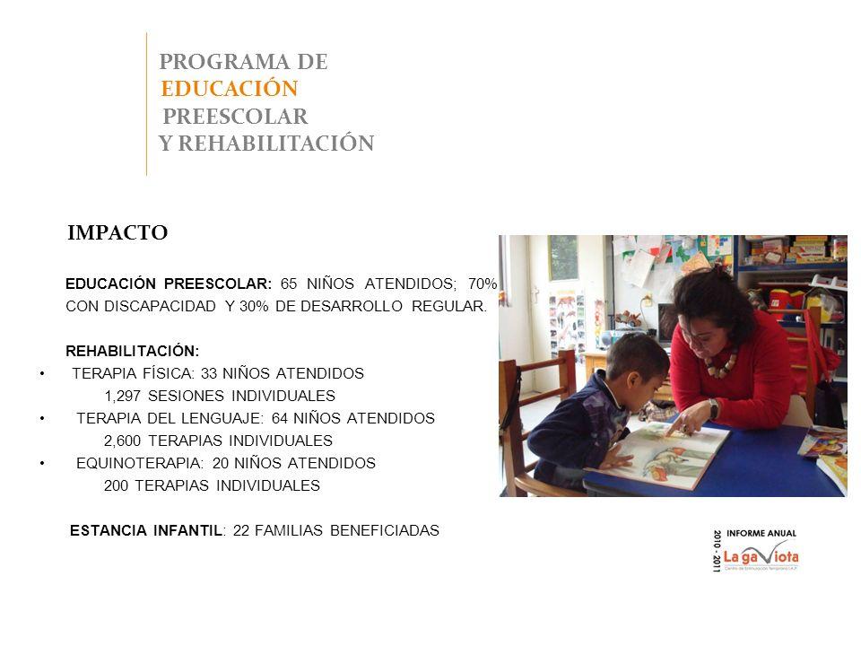 PROGRAMA DE EDUCACIÓN PREESCOLAR Y REHABILITACIÓN
