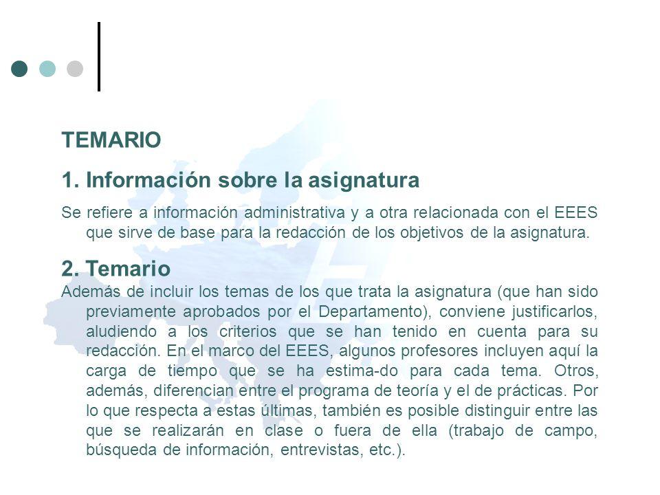 Información sobre la asignatura