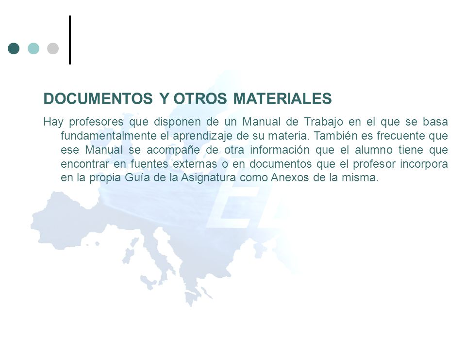 DOCUMENTOS Y OTROS MATERIALES