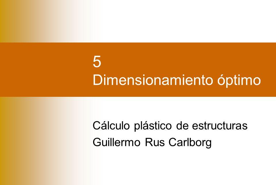 5 Dimensionamiento óptimo