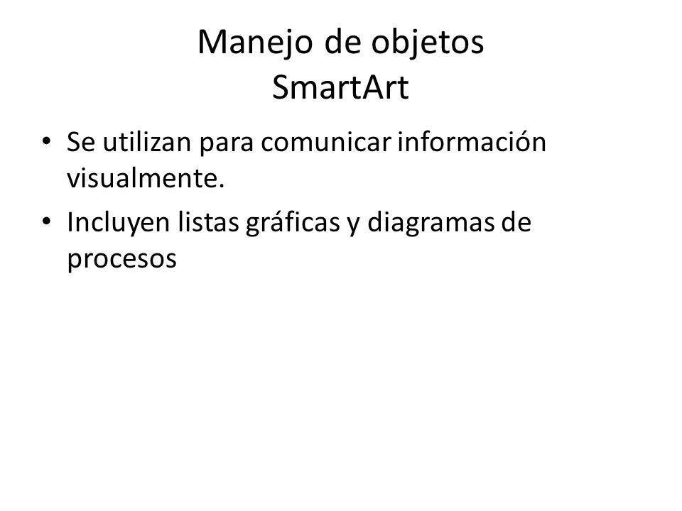 Manejo de objetos SmartArt
