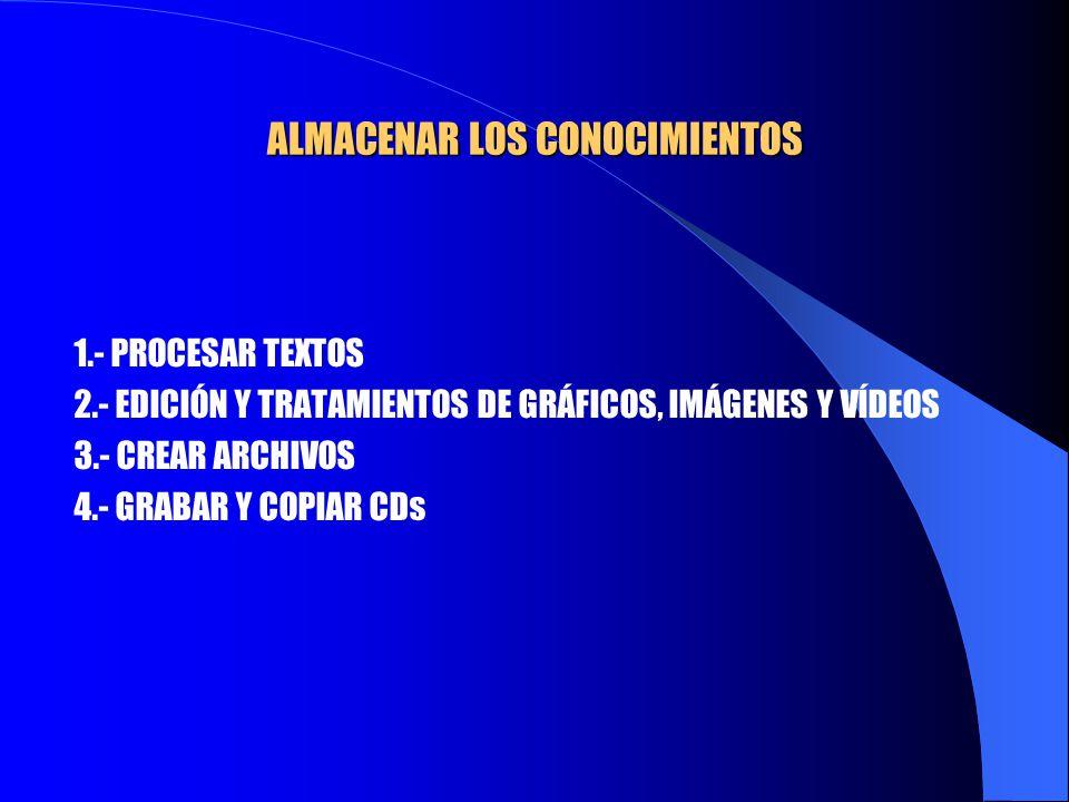 ALMACENAR LOS CONOCIMIENTOS