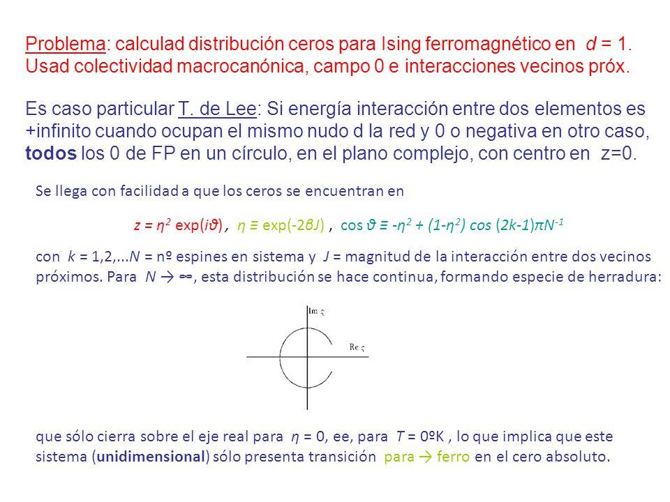 z = η2 exp(iθ) , η ≡ exp(-2βJ) , cos θ ≡ -η2 + (1-η2) cos (2k-1)πN-1