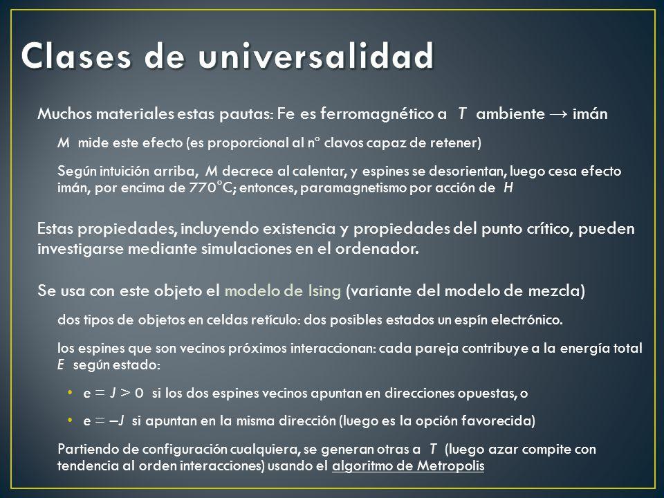 Clases de universalidad