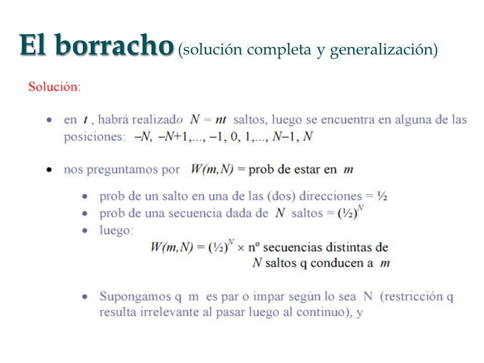 El borracho (solución completa y generalización)