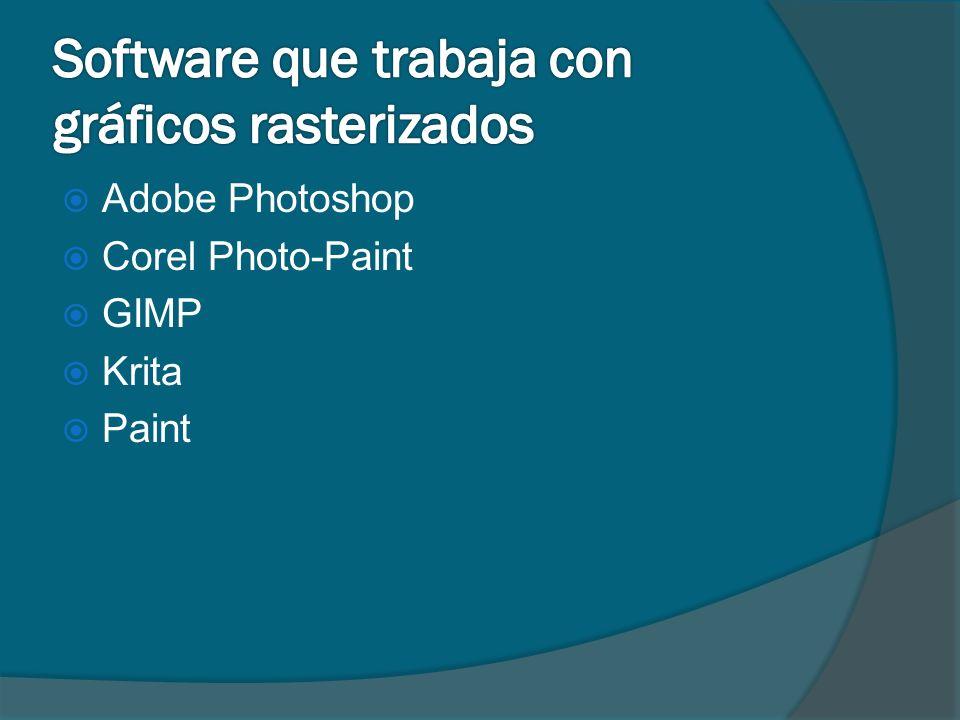 Software que trabaja con gráficos rasterizados