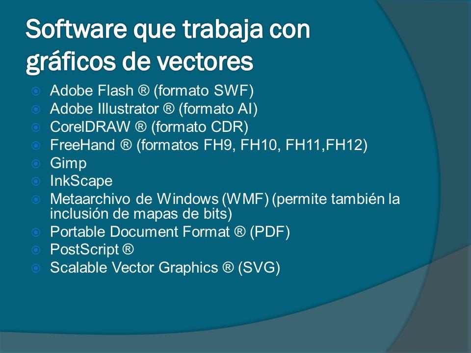 Software que trabaja con gráficos de vectores