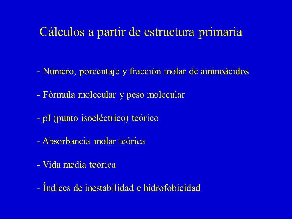 Cálculos a partir de estructura primaria