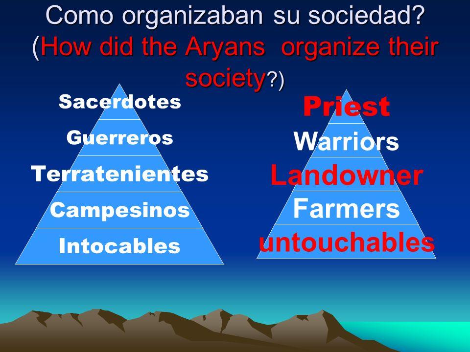 Como organizaban su sociedad