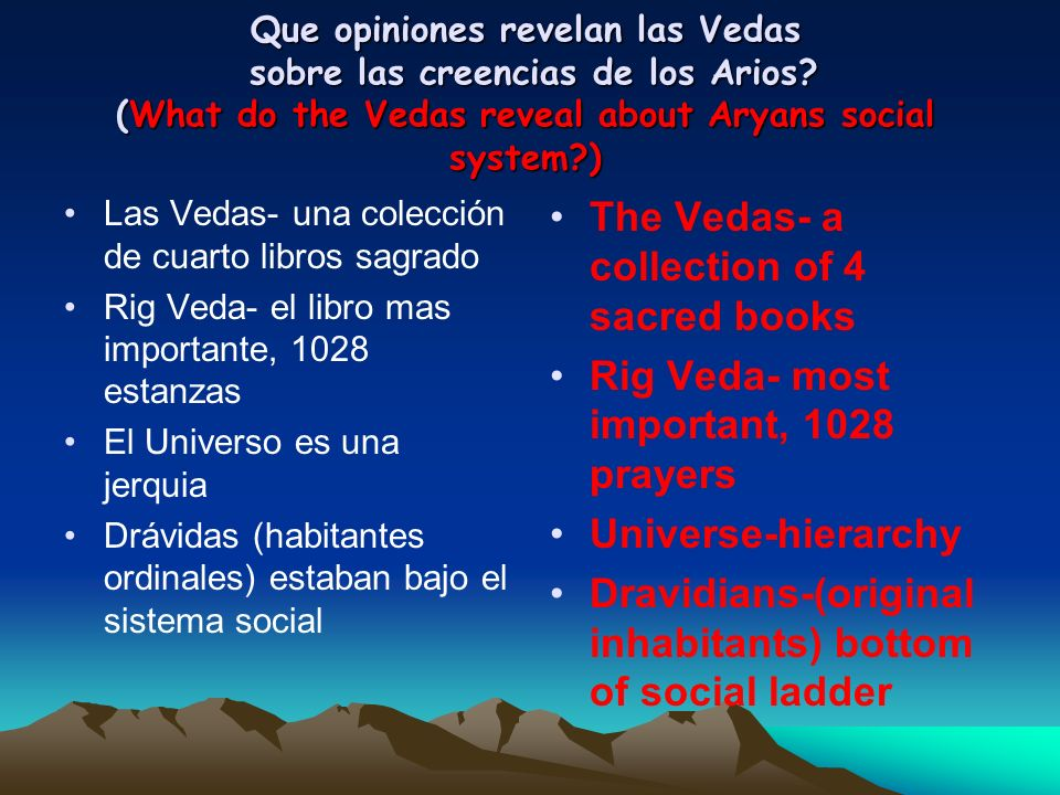 The Vedas- a collection of 4 sacred books