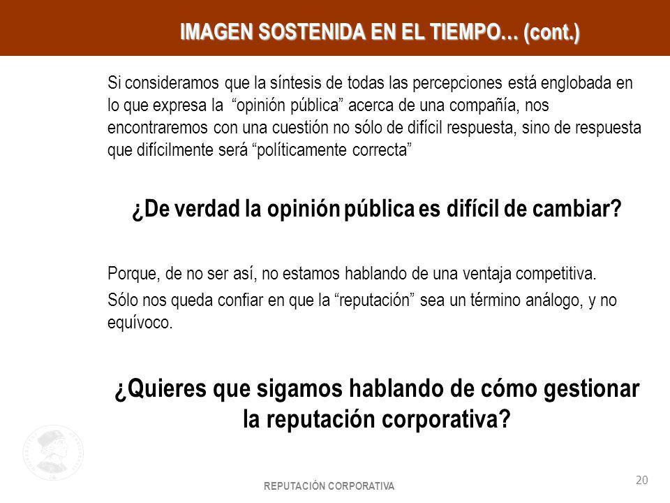 IMAGEN SOSTENIDA EN EL TIEMPO… (cont.)