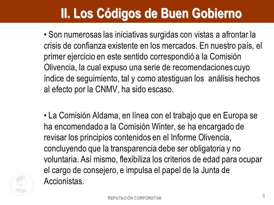 II. Los Códigos de Buen Gobierno